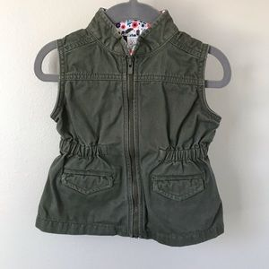 Army Green Vest Size 18 mo